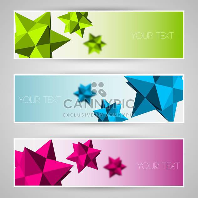 Vector colorful banners with abstract elements - Free vector #130069