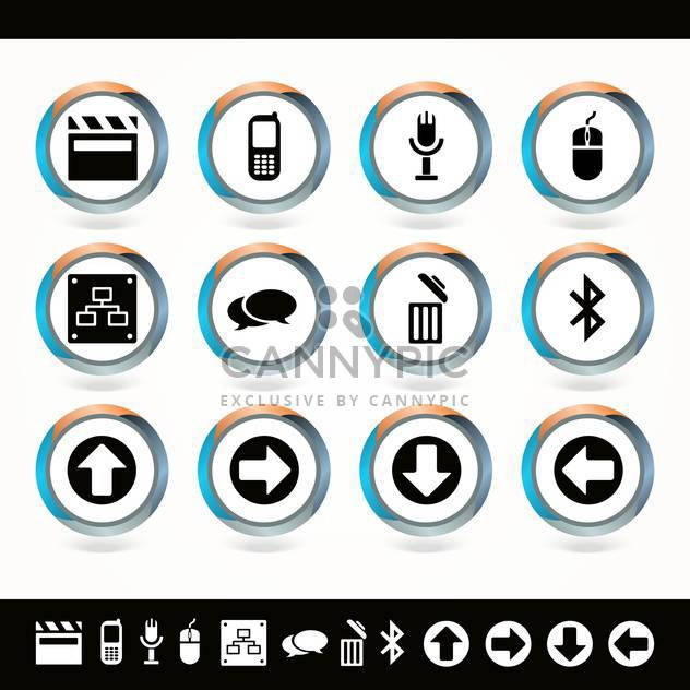 Vector set of web icons on white background - Free vector #130119