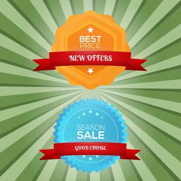 Vector illustration of special offer stickers - vector gratuit #130159