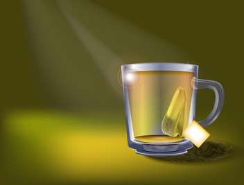 Vector illustration of tea cup - vector gratuit #130209