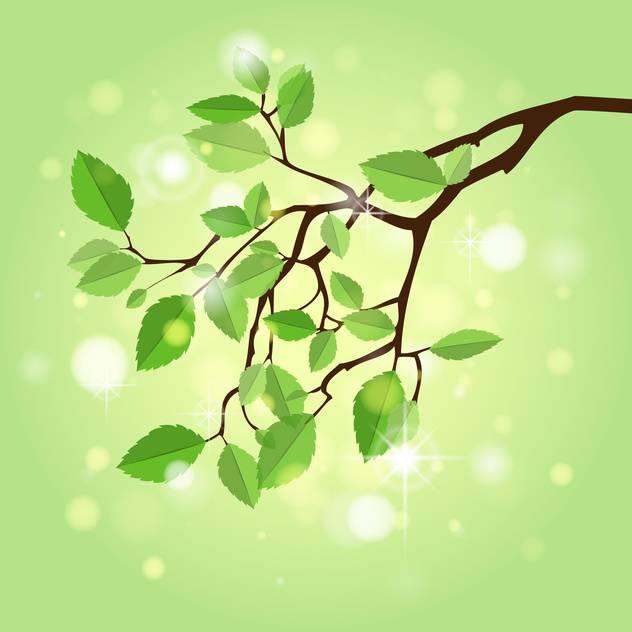 Vector illustration of summer branch - vector #130219 gratis