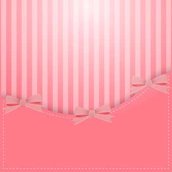 vector pink background with bows - vector gratuit #130279