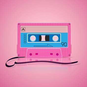 pink audio cassette background - vector gratuit #130339