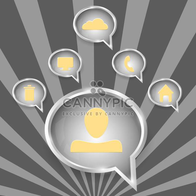web speech bubbles icons set - Free vector #130349