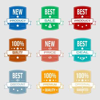 Set with vector sale labels - vector gratuit #130379