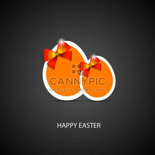 Glückliches Ostern Grußkarte - Free vector #130399