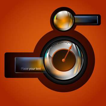 Vector speedometer with place for text - vector gratuit #130429
