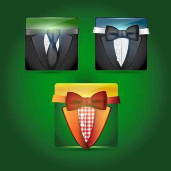 set of vector male suits - vector gratuit #130479