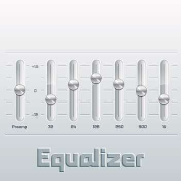Vector illustration of music equalizer with mixing console - бесплатный vector #130519