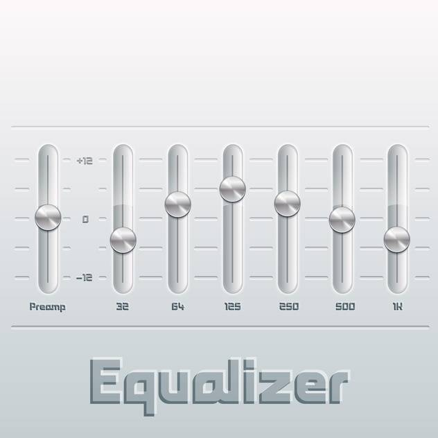 Vector illustration of music equalizer with mixing console - vector gratuit #130519