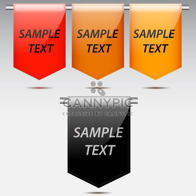 Vector set of colorful labels on grey background - Free vector #130629