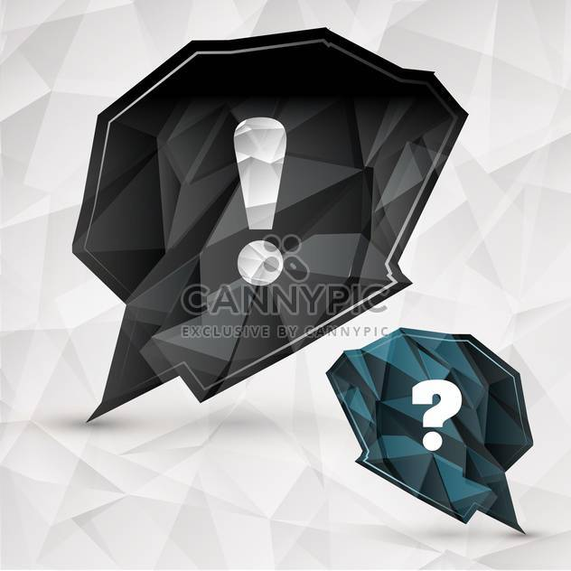 Abstract paper speech bubble on vector background - Free vector #130659