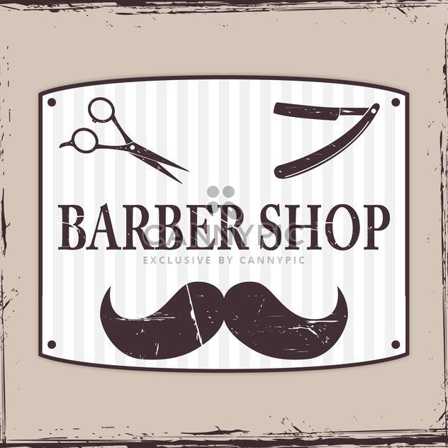 Barber Shop or hairdresser icons on grey background - Free vector #130669