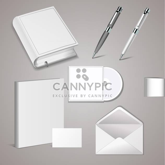 vector set of templates corporate identity - Free vector #130769