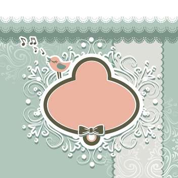Retro style frame and design elements for scrapbooking - Free vector #130789