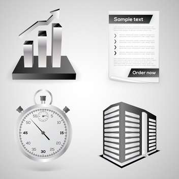 Business icons on grey background - vector gratuit #130809