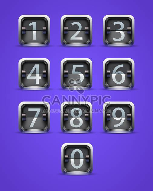 throw numeral buttons on purple background - Free vector #130839