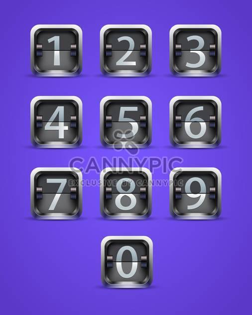 Nummerische Tasten auf Lila Hintergrund werfen - Free vector #130839