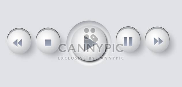 Multimedia buttons illustration vector - Free vector #130859