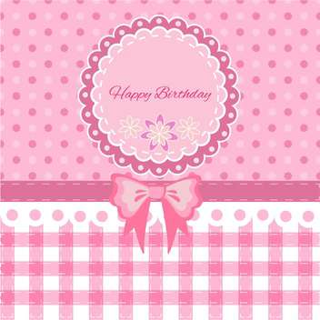 Vector cute birthday card for children - vector gratuit #130869