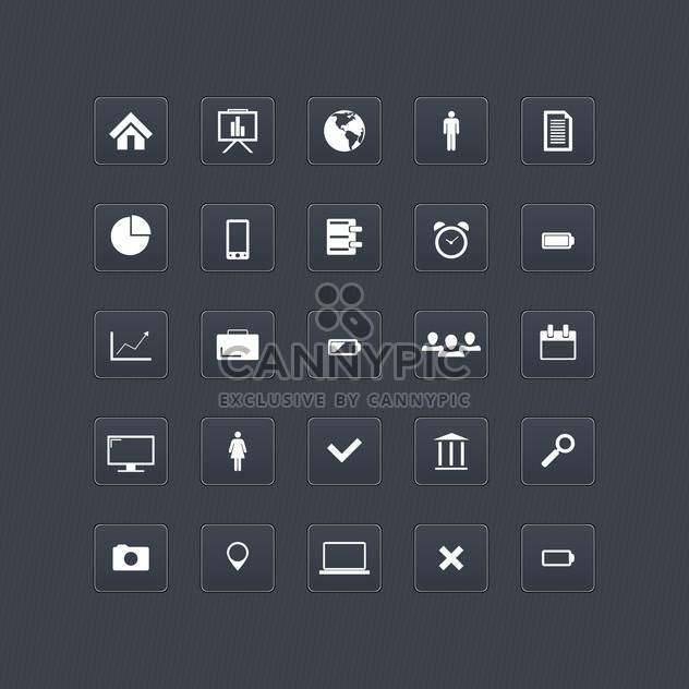 Computer and internet web icons buttons set - Free vector #131029