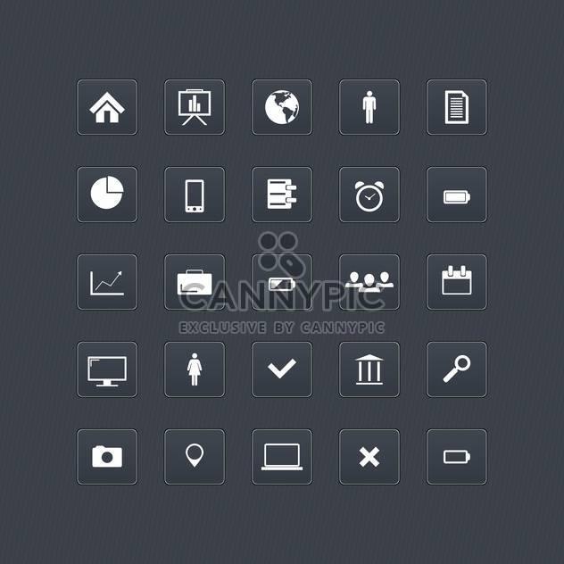 Computer und Internet Web-Symbole-Buttons festlegen - Kostenloses vector #131029