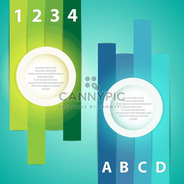 Colorful presentations with letters and numbers - Free vector #131079