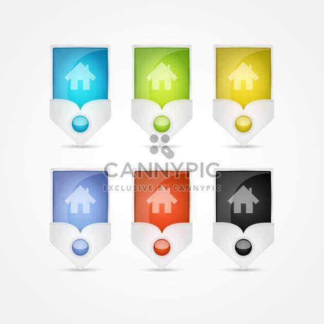 Kleine Häuser Vektor-Icons auf weißem Hintergrund - Free vector #131109
