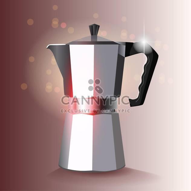 Vektor-Kaffee-Hersteller-Illustration auf Bokeh-Hintergrund - Kostenloses vector #131119