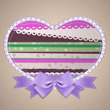 Vector colorful heart frame with lace - vector gratuit #131149
