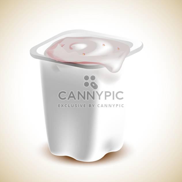 Yogurt in plastic container vector illustration - Free vector #131259