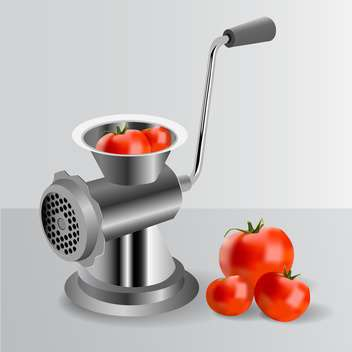 Metallic classic mincer with tomatoes - vector #131269 gratis