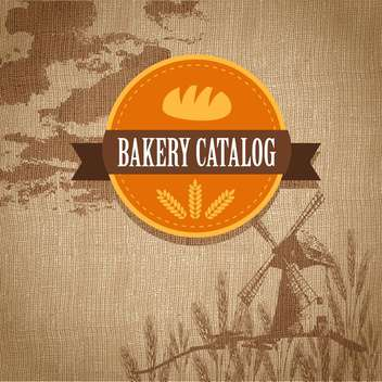Vintage retro bakery logo vector illustration - бесплатный vector #131289