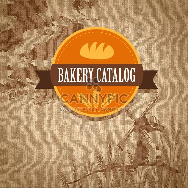 Vintage retro Bäckerei Logo Vektor-illustration - Kostenloses vector #131289