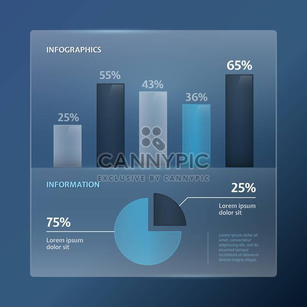 Detail infographic vector illustration - Free vector #131319