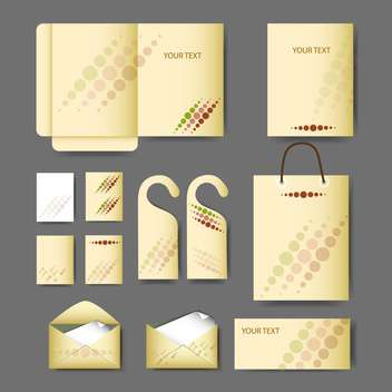 Objects for corporate identity vector set - Free vector #131329