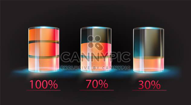 Battery charge status vector illustration - Free vector #131389
