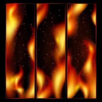 Abstract fire vector background - Free vector #131429