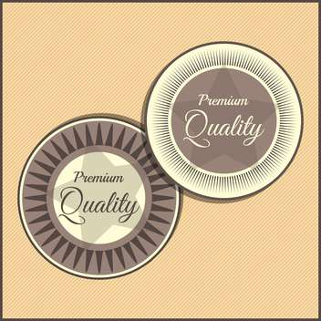 Collection of premium quality labels with retro vintage styled design - vector gratuit #131469
