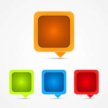 Collection of four web icons vector - vector #131499 gratis