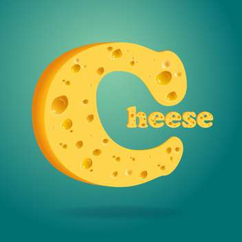 Illustration of word cheese written with cheese - vector gratuit #131569