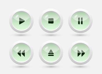 Multimedia buttons vector interface - Free vector #131599