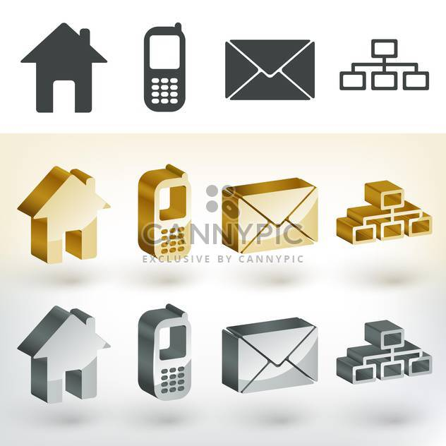Vector communication web icons - Free vector #131609