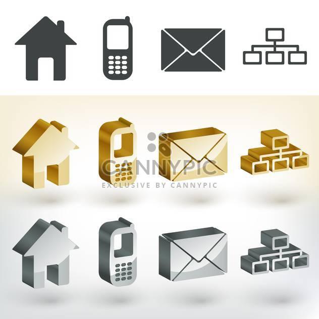 Vektor-Kommunikation Web icons - Free vector #131609