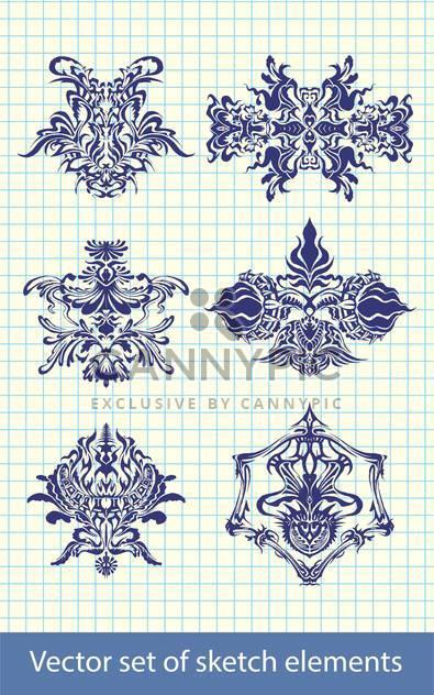 Abstrakte handgezeichneten retro-Elemente - Kostenloses vector #131629