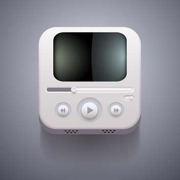 Media player vector icon on grey background - vector gratuit(e) #131679