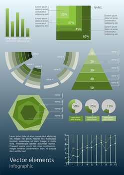 Vector infographic elements illustration - vector #131749 gratis