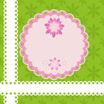 Greeting card with flowers and lace vector illustration - Free vector #131769