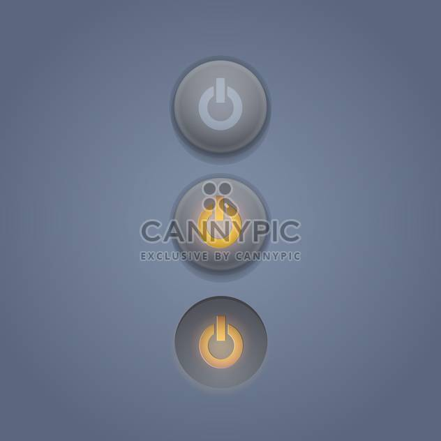 Vector set of power buttons on grey background - Free vector #131799