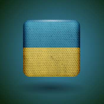 Ukraine flag with fabric texture vector icon - Free vector #131809